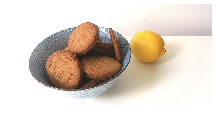 spelt- citroenbiscuitjes