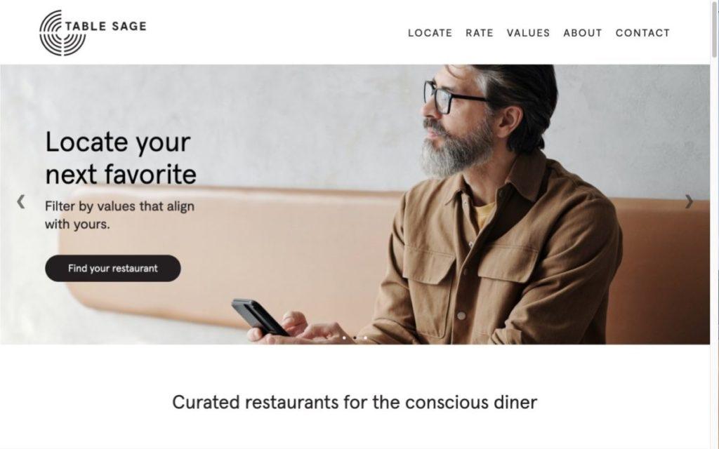 Table Sage website